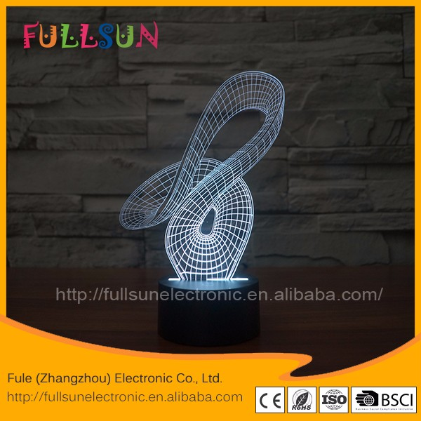 FS-2869 LED flashing changing lamp 3D cool shaping night light