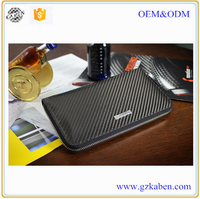Men wallet wholesale business genuine leather and carbon fiber TPU better than crocodile wallet