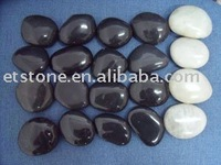 High polished Stone pebbles , black pebble , white pebble wholesale