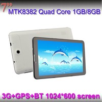 "Popular Android WCDMA 3G Tablet 7.0"" Wifi Bluetooth supported MTK8382 quad core"