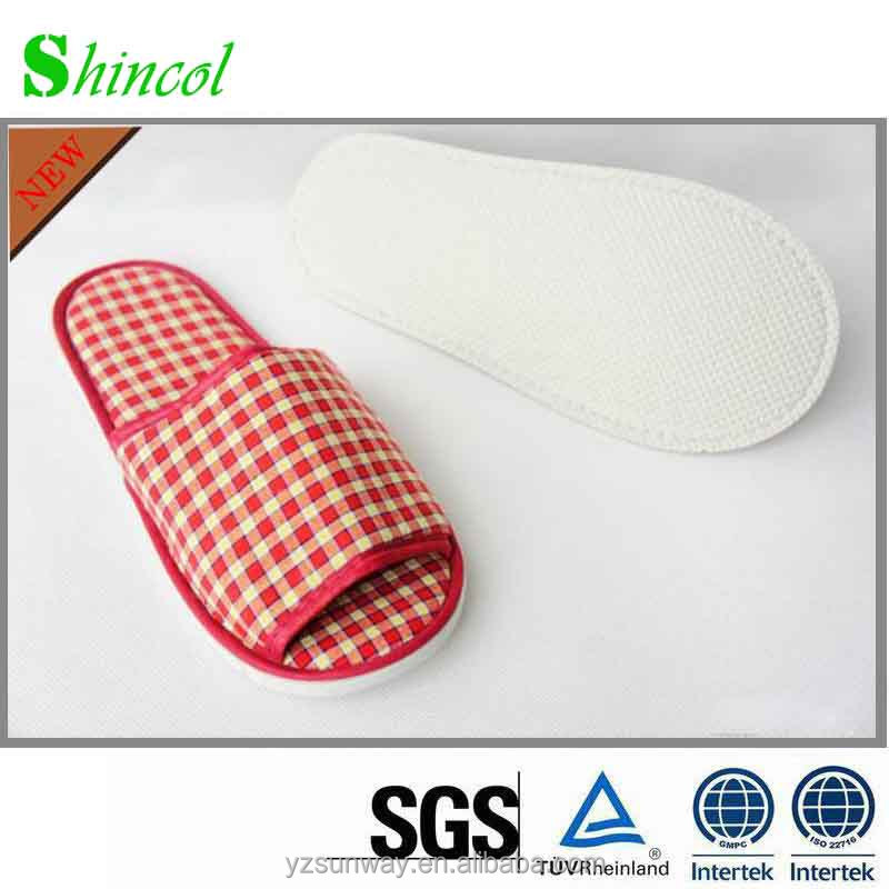 supply cheap waffle personalized hotel slipper