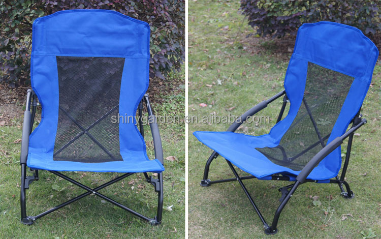 Bimart outdoor steel folding beach chair with PVC coating oxford fabric