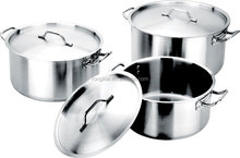 6Pcs stainless steel big cooking stock pots for restaurant