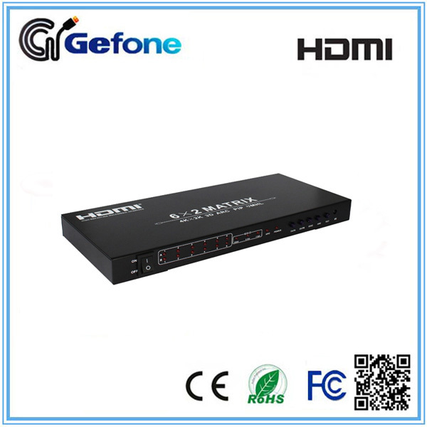 HDMI Switch 6x2 V1.4 HDMI Matrix 6x2 3D 4Kx2K HDMI Products Experts