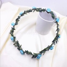 Wholesale special design colorful artificial leaf flower wire wreath