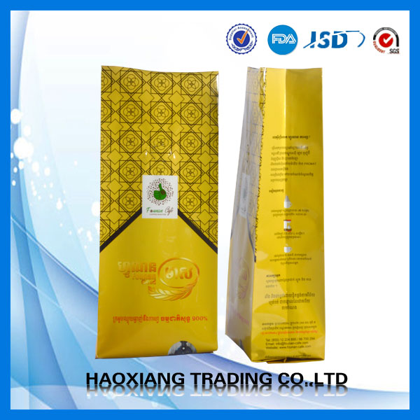 printed side gusset laminated material packaging wet wipe tissues plastic bag