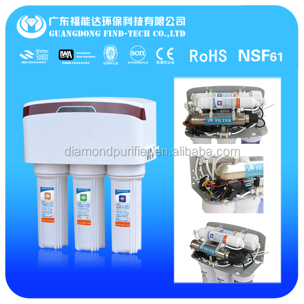 6 stage ionizer alkaline water filter with uv and dust cover