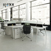 slim modern design office furniture workstations with add-on glass