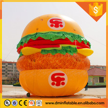 10m giant inflatable burger king ,inflatable burger from daming