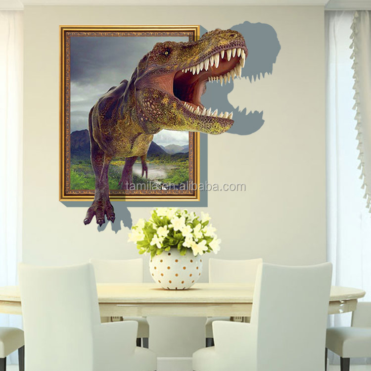 3D Popular dinosaur Cartoon Movie home decal wall sticker/adesivo de parede for kids room decor child gifts wallpaper