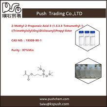 2-Methyl-2-Propenoic Acid3-(1.3.3.3-Tetramethyl-1-((Trimethylsilyl)Oxy)Disiloxanyl)Propyl Ester 97%min 19309-90-1