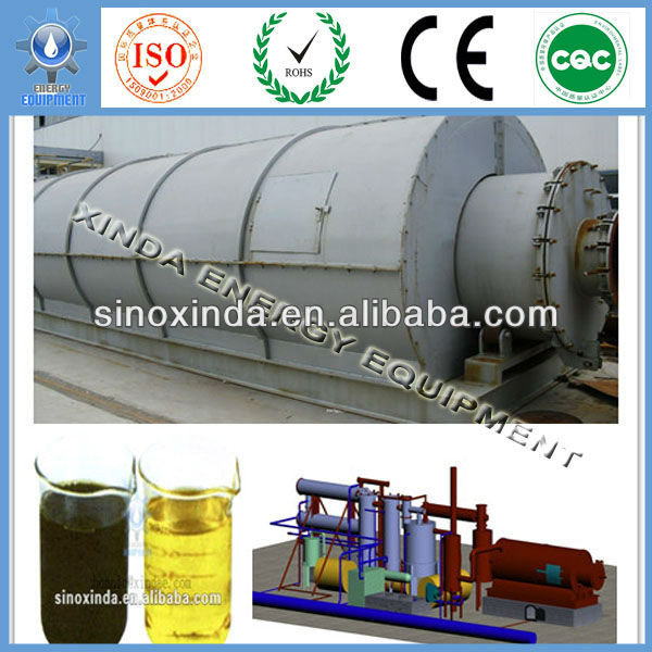 The fifth generation XD-12 waste tyre oil pyrolysis machine