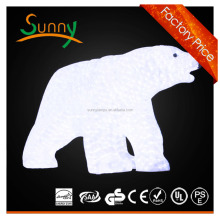 acrylic christmas bear [2012 Hot New!]polar bear christmas decoration SR12C-554 26cm Polar Bear Christmas Decoration