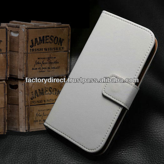 New Leather Flip Case Cover Pouch Bumper Wallet for Samsung Galaxy S4 S 4 IV i9500 White Best Quality
