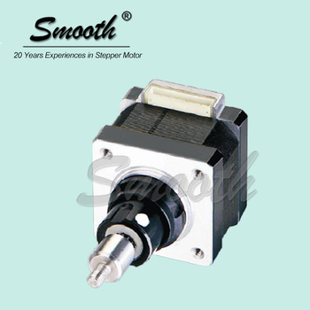Smooth nema 14 captive electric linear actuator micro for Miniature stepper motors with linear actuation