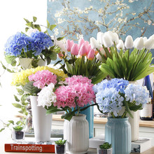 Best Selling 13cm Diameter Hydrangea Artificial Flower For Home Decoration