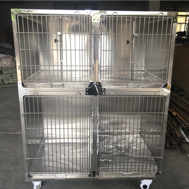 Hot Sale Folding Portable Large Size Stainless Steel Big Veterinary Dog Cage Kennel