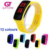Ultra Thin Silicone Digital LED Sports Bracelet Wrist Watch For Lady