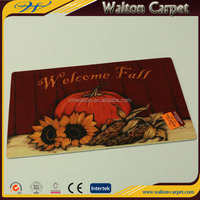 Welcome fall printed eco-firendly anti-slip pvc backing door mat