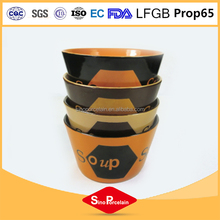 Ceramic bowl with embossed design, ceramic soup bow