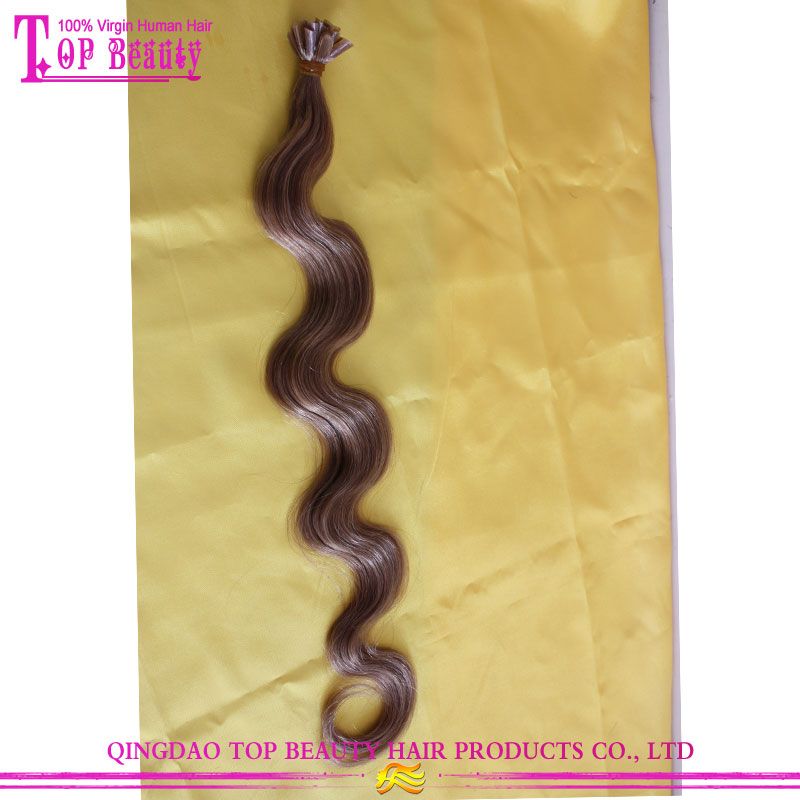 "U Tip Pre-bonded Hair Extensions 18"" Body Wave Cold Fusion Hair Extensions"