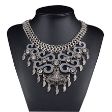 Bohemian Big Bib Statement Pendant Necklace Women Accessories Chain Collar Women Vintage Jewelry Necklace
