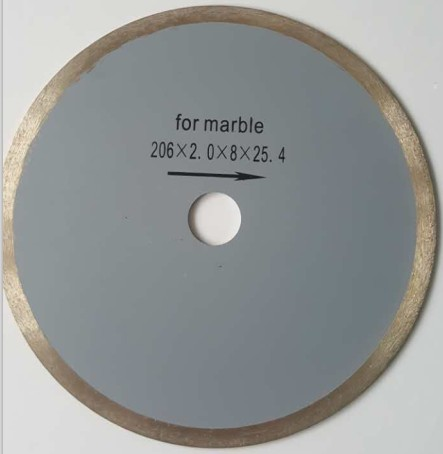 Hot Press Sintered Continuous Rim Diamond Saw Blade for marble cutting
