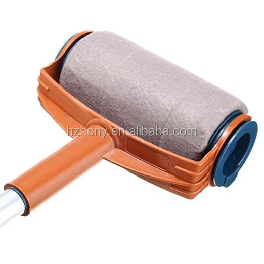 Paint Runner Pro Roller Brush Handle Tool Flocked Edger Room Wall Painting Your Home Office Room Multifunction Roller Paint Brus