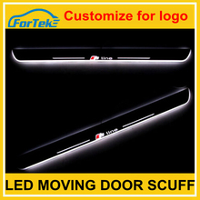 Factory diretly sale car colourful led door sill scuff plate auto led moving door scuff