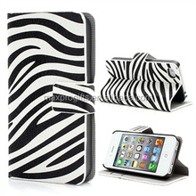 Popular Zebra Black White Printed Wallet leather Magnetic Stand Case Cover for IPhone 7/7s