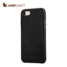 Good feeling Metal button handcraft genuine leather phone case