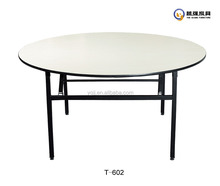 Round foldable banquet table for banquet hall