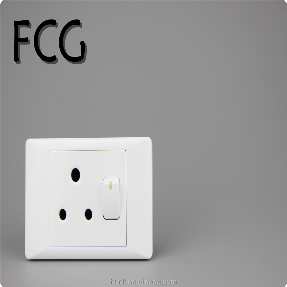 South Africa new design electrical 1 gang switch and 16 wall socket