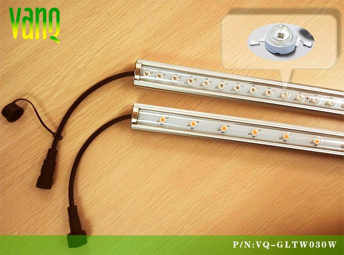 30w Waterproof led grow tube light for indoor hydroponic basil,cherry tomatoes