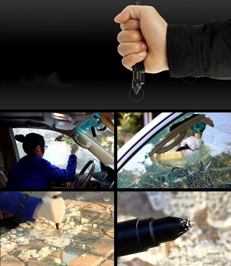 Portable Self Defense with Glass Breaker Writing Multifunctional Survival Tactical Pen
