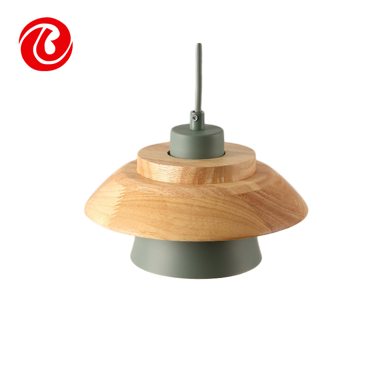 Hot Sale Modern simple stylish indoor decorative wooden pendant Light