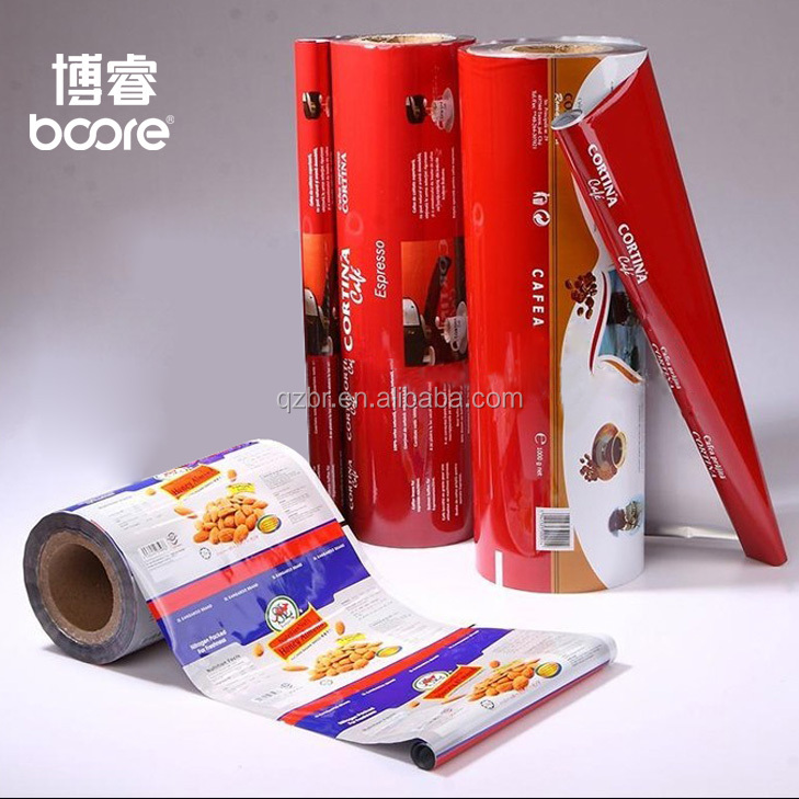 2018 hot sale food packaging sachet PET / MPET / PE plastic packaging film for food packaging