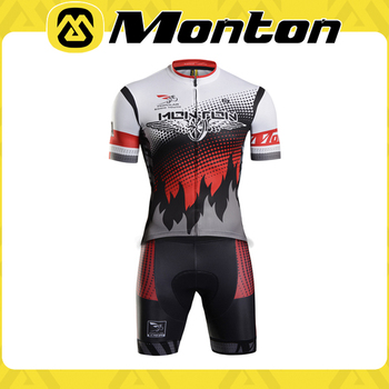 Comfortable Monton cycling short jersey and pants of men with sublimation printing