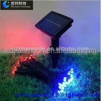 Solar powered solar panel string light 10M 100led LED bulb China factory direct sale
