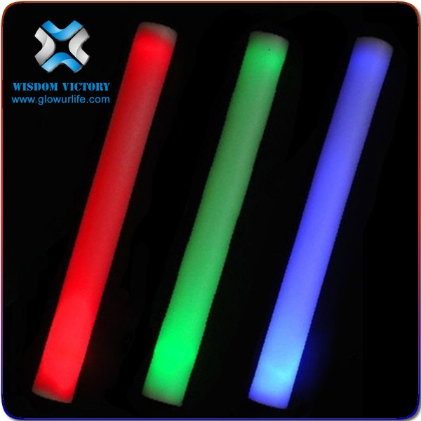 Custom print logo foam glow stick RGB color led foam stick , concert light stick