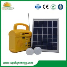 10W Portable DC solar Lighting system green energy solar panel system for home using