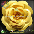 Cheap Golden luxury card paper flower for mobile shop decoration