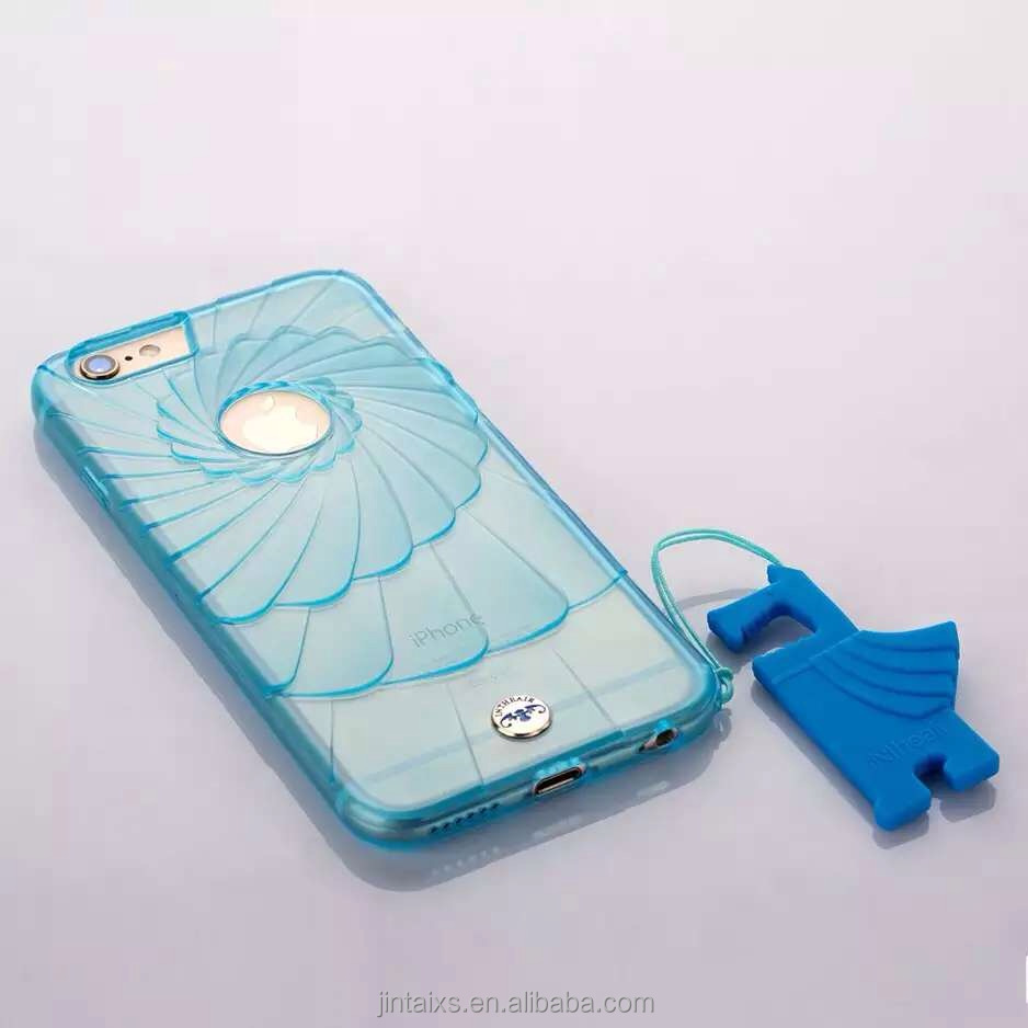Clean Ultrathin Thin cyclone TPU Mobile Phone Case for Iphone , Custom IMD Cell Phone case
