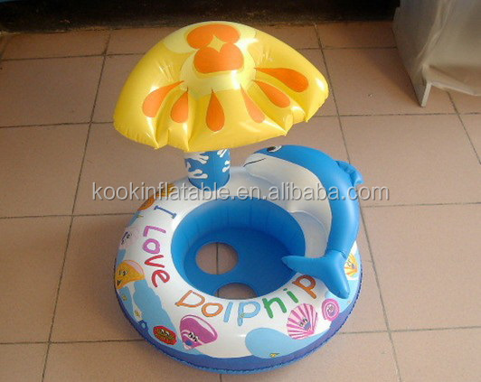 Toddler inflatable toys for pool baby float swimming canopy