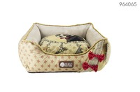 plush pumpkin design pet bed for Christmas holiday