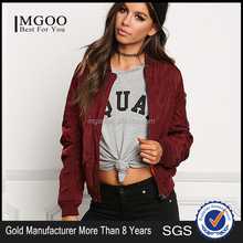 MGOO Fashion Manufacturer Women long Sleeves Coat And Jackets Ladies Western Wear Zip Up Bomber Jackets