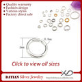 XD P050011 0.8x5mm 925 Sterling Silver Open Ring Jump Silver Rings Wholesale
