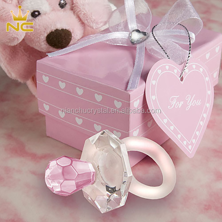 Crystal Pacifier China Souvenirs New Born Baby Girl Baby Shower Souvenir Gifts For New Baby Gifts