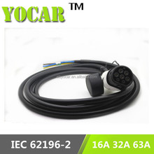 24 month warranty type2 ev cable open end electric car ev charging cable/charger