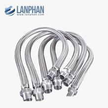 flange joint braided metallic steel stainless corrugated flexible hoses